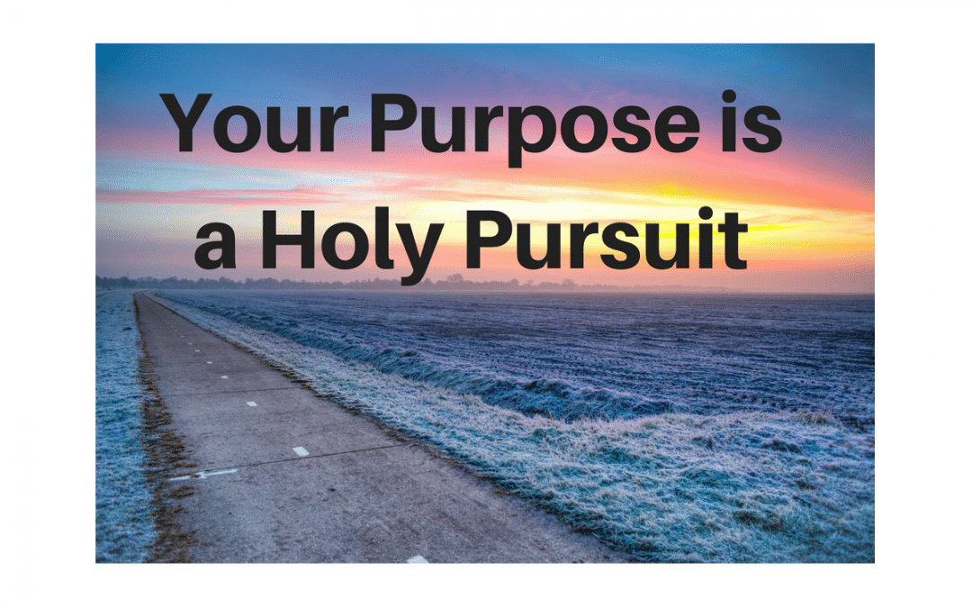 Your Purpose is a Holy Pursuit